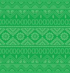 Green native american ethnic pattern vector
