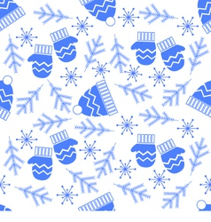 A simple winter seamless pattern vector image vector image