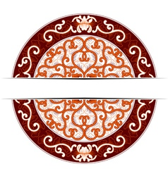 asia circle ornate in red colors vector image vector image