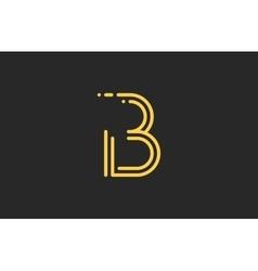 B letter logo Line logo Creative logo design vector image vector image