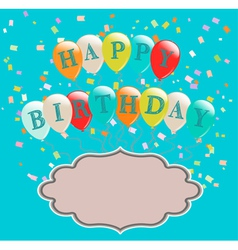 balloons birthday vector image vector image