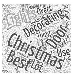 Commercial christmas decoration word cloud concept vector