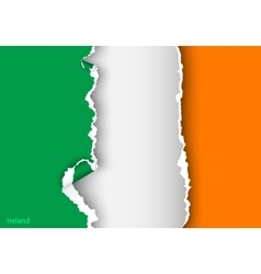 Design flag ireland from torn papers with shadows vector