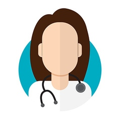 Doctor woman icon vector image