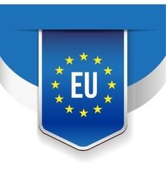 EU flag ribbon vector image