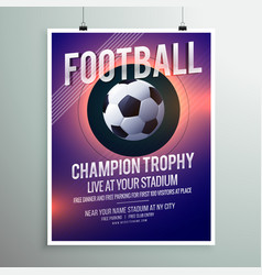 Football championship trophy flyer brochure vector