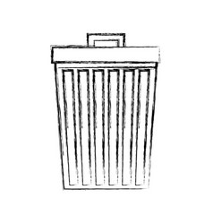 Garbage bin isolated icon vector