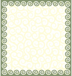 Greek style frame vector image vector image