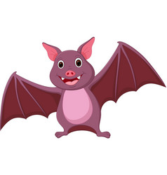 Happy bat cartoon vector