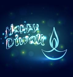 Hindu festival background of happy diwali vector