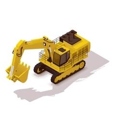 isometric mining excavator vector image vector image