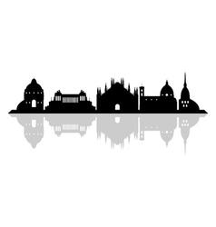 Italy skyline vector image vector image