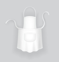 Kitchen realistic white cotton apron vector