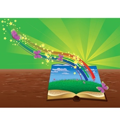Magic book vector image vector image