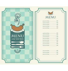 menu sausage vector image