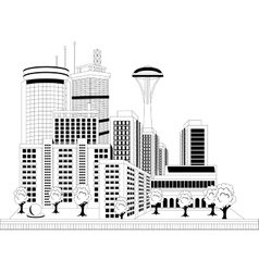 Modern city vector image