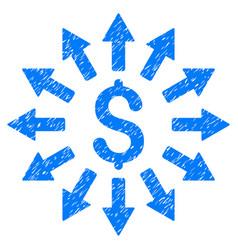 Money distribution grunge icon vector