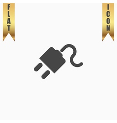 power cord flat icon vector image