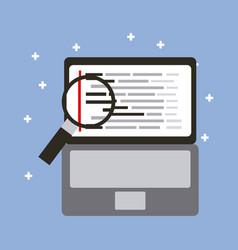 programming code web site development laptop with vector image