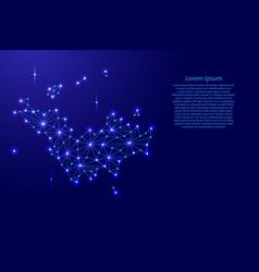 Saint barthelemy map of polygonal mosaic lines net vector