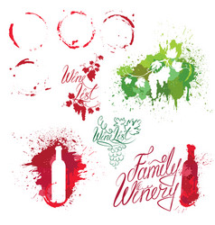 set of elements in grunge style with bunch of vector image vector image