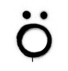 Sprayed scandinavian vowel graffiti font in black vector
