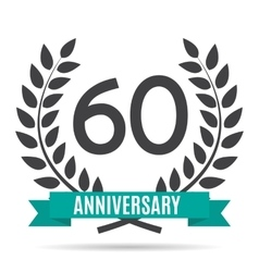 Template Logo 60 Years Anniversary vector image vector image