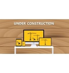 website construction construct under development vector image