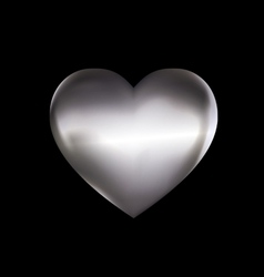 iron solid heart vector image