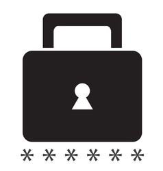 Security icon on a white background singleseries vector