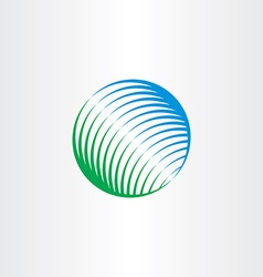 Green blue globe natural circle logo icon vector