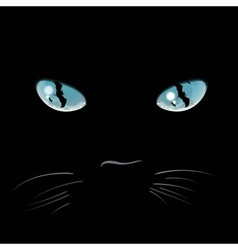 Closeup portrait of a halloween black cat vector