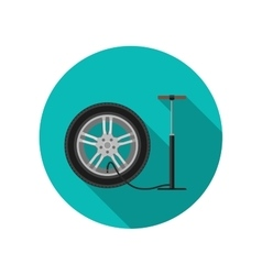 Tire service flat icon vector