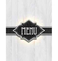 Leather and wood menu design vector image