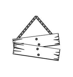 Figure wood notices icon vector