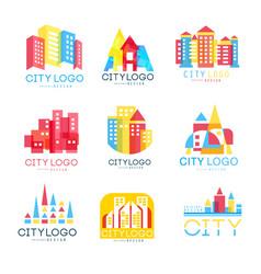 City logo original design set logotype elements vector