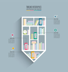 Timeline infographic design business concept with vector