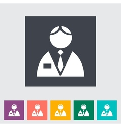 Person single flat icon vector