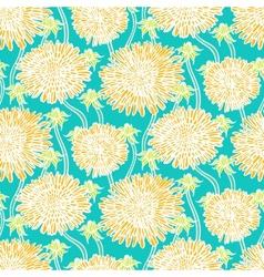 Vintage floral pattern with dandelions or asters vector image