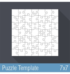 Puzzle Template 7x7 vector image