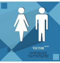 Suluet men women flat modern web design on a flat vector