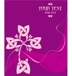 Card with a celtic cross vector