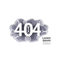 404 not found problem internet connection error vector