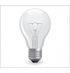 Incandescent electric bulb vector