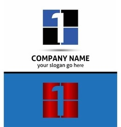 Number one 1 logo icon template vector