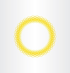 Yellow sun abstract circle background vector
