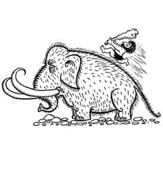 caveman has a hunt vector image