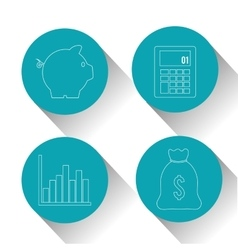 Profit icons design vector