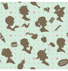 People head silhouettes vector