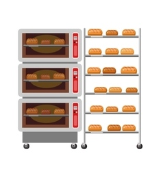 Equipment for baking kitchen appliances ovens vector